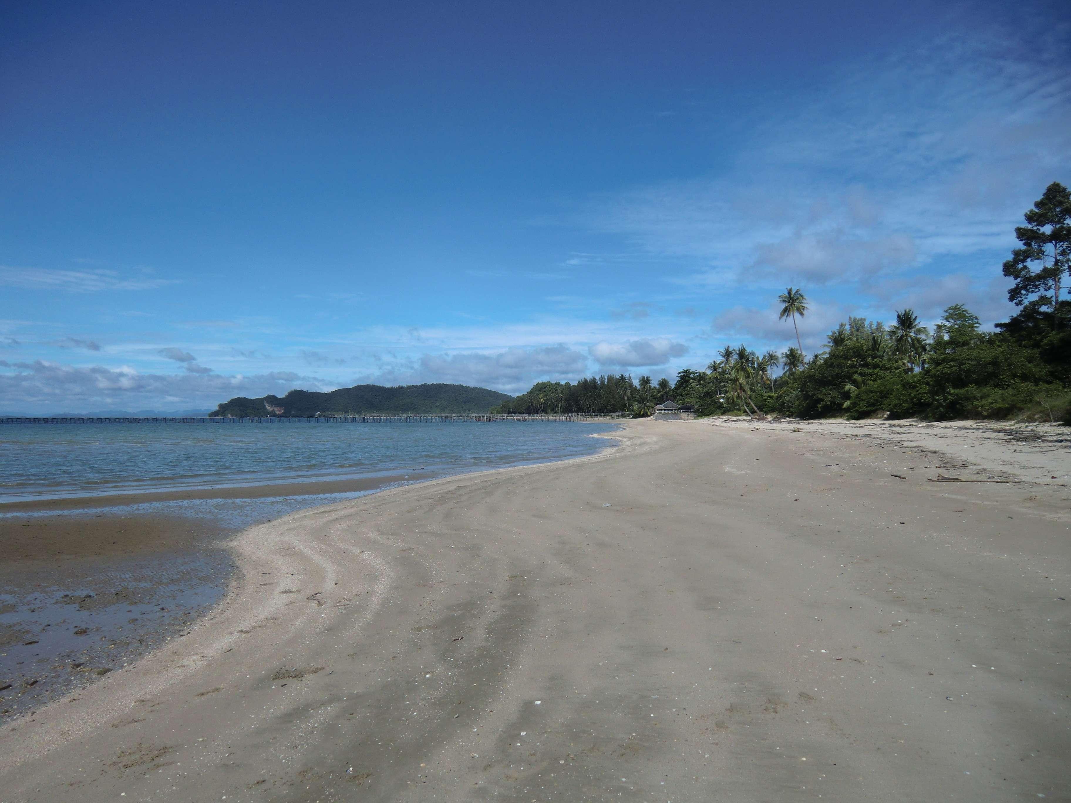 Blick zurück zum Resort